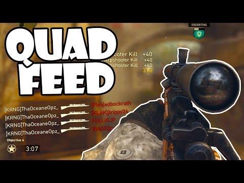 QUAD FEED WITH EVERY GUN in Call of Duty: World War 2! (COD WW2)