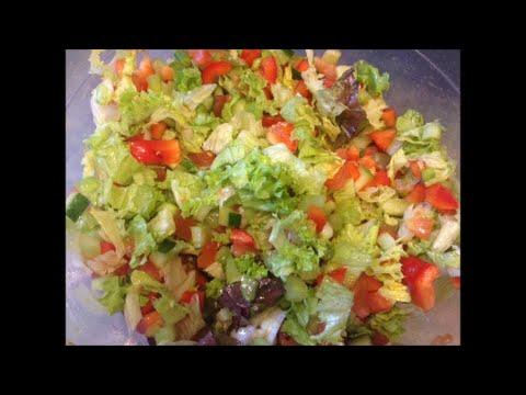 рецепт полезный постный  овощной салат
