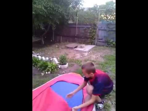 Как скласть зимнюю палатку за