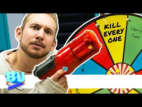 NERF Hangman Roulette Challenge!