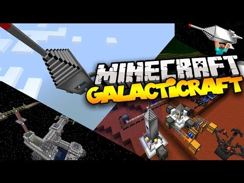 Minecraft GALACTICRAFT! (Build a Rocket & Travel to The Moon!)   Mod Showcase