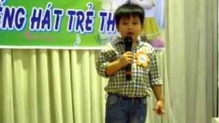 Bé Minh Khôi Chồi 3 hát Nhật ký của mẹ Hội thi Karaoke Tiếng Hát Trẻ Thơ 2014