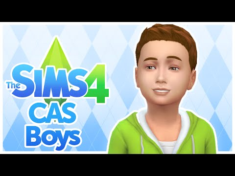 The Sims 4 - Kids / Children CAS - Boys Clothing, Hair, and Traits - Create A Sim - No Commentary