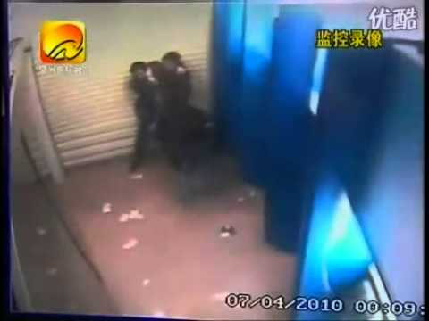 A chinese young lady was stabbed and killed by a murder in front of a ATM!