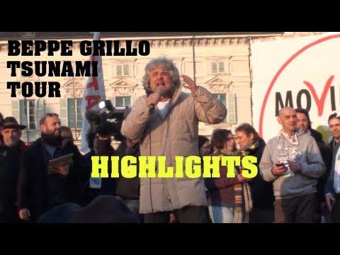Beppe Grillo Tsunami Tour – Piazza Castello Torino 16 Febbraio – Movimento 5 Stelle PREVIEW