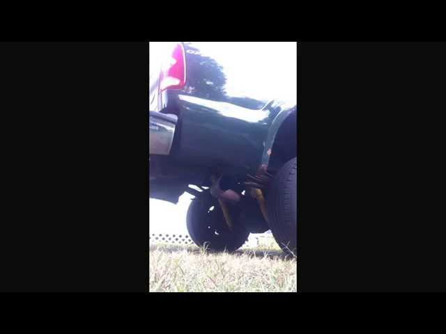 2001 Ford F250 7.3 stock exhaust VS 4 inch straight pipe