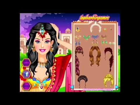 barbie games barbie indian saree dressup game youtube