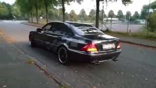 Mercedes S600 L V12 - real EISENMAN exhaust sound on the Run