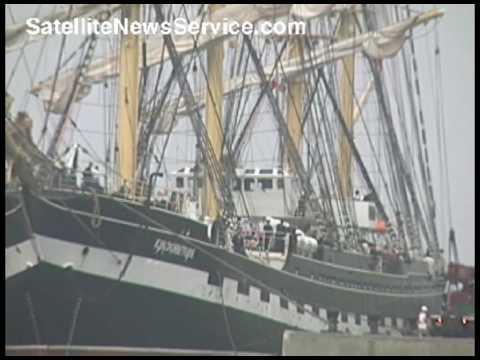 BOURNE, MA- Tall Ship Kruzenshtern to Visit Massachusetts Maritime Academy (07-03-09)