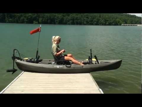 BassYaks Kayak Trolling Motor on NuCanoe Frontier 12