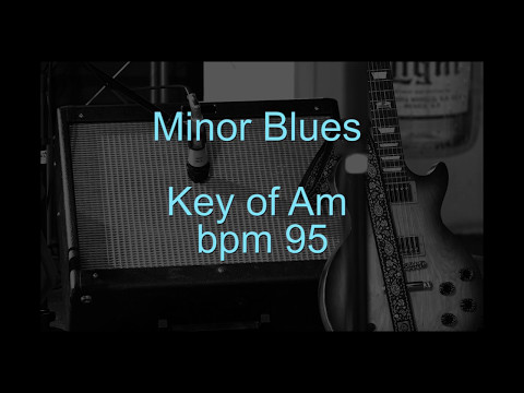 Minor Blues Backing Track In Am