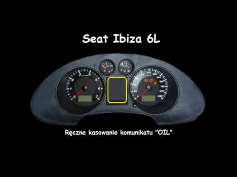 SEAT IBIZA L6 Oil Indicator Reset service light Manual Inspection Kasowanie Ins