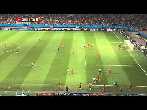 France - Switzerland : 5-2 - Fifa World Cup 2014 - goals and occasions