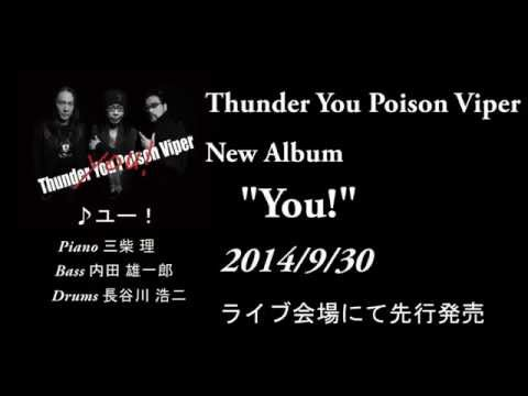 Thunder You Poison Viper アルバム発売告知       内田 雄一郎(Bass)、三柴 理(Piano)、長谷川 浩二(Drums)
