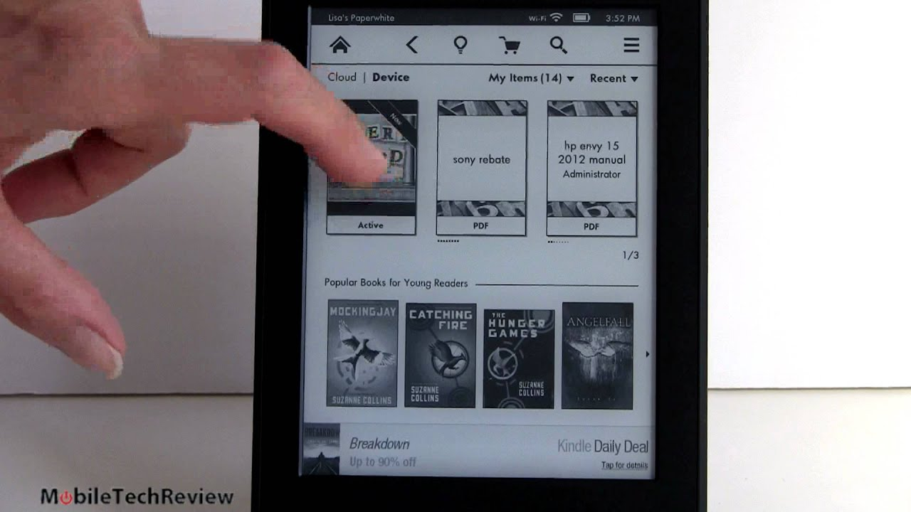 Amazon Kindle Paperwhite Review - YouTube