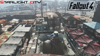 Fallout 4 | Huge Realistic City at Starlight Drive-In | Better than Diamond City