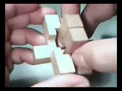 Wooden Puzzle Solutions 6 Pieces Wooden Cross Puzzle Solution