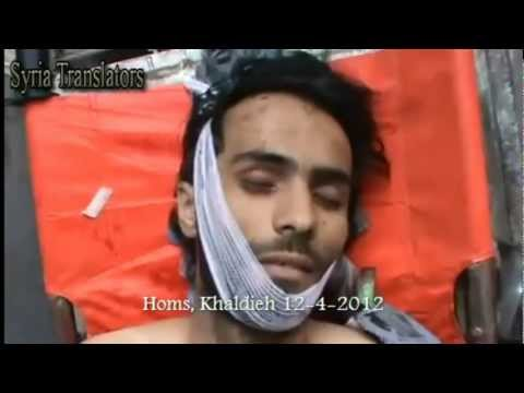 Syria, Homs Hashem Saleh Zakaria, killed by Assad's sniper. On the alleged ceasefire day. 12-4-2012