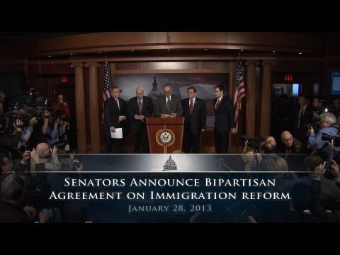 Senators Announce Bipartisan Agreement on Immigration Reform
