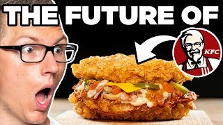 KFC Waffle House Hash Brown Double Down Taste Test | FUTURE FAST FOOD
