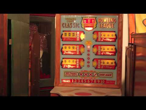 1957 Chicago Coin Classic Bowling League Arcade Game