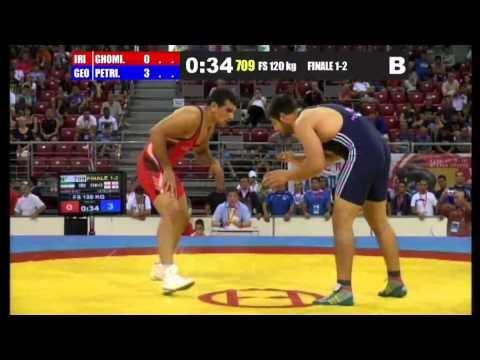 World Wrestling Championship - Juniors 2013 Sofia, Bulgaria (IRAN R.I.) Abdollah Farzaneh GHOMI AVILI (GEORGIA) Geno PETRIASHVILI.