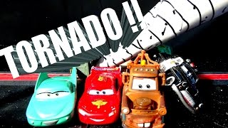 Disney Pixar Cars TORNADO Destorys Radiator Springs