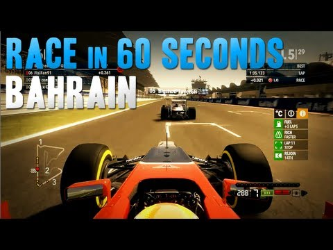 F1 2012 | ARL F1 - Bahrain Race in 60 Seconds
