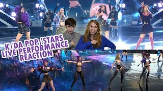 🎮 K/DA - POP/STARS Live Stage Reaction 🎮 - SISTERS REACT