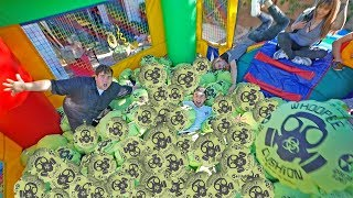 1000 WHOOPIE cushions in bounce house!