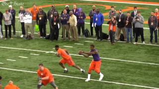 Wayne Gallman worked out for NFL scouts