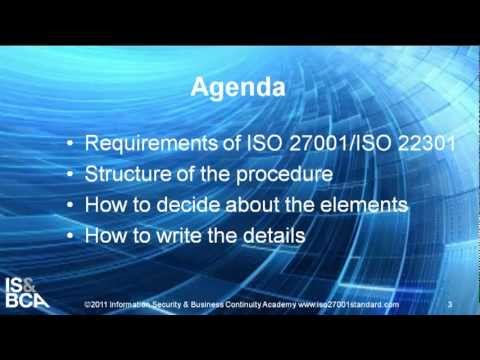 Introduction | How to Write ISO 27001/ISO 22301 Internal Audit Procedure and Audit Program