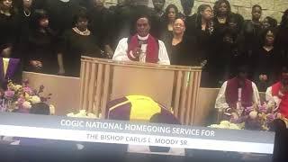 Bishop Thuston at Bishop Carlis Moody's Sr. Homegoing Clip 4- 1/18/19