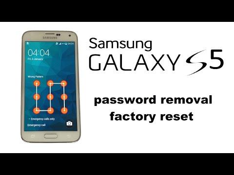 Samsung GALAXY S5 S5 S4 A7 A5 A3  - Unlock Password / Screen Lock. Factory / Hard Reset