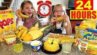We Only Ate YELLOW FOOD For 24 Hours Challenge!!!