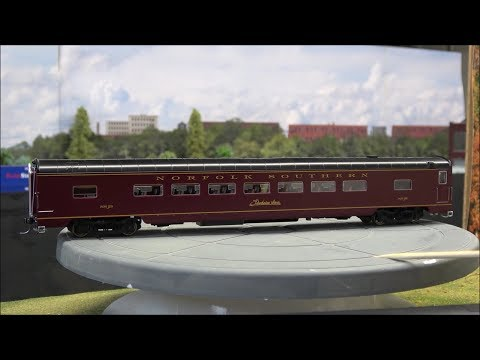 Review: MTH HO NS Excursion Passenger Cars (Streamlined) 7 Car Set! Lighted Norfolk Southern