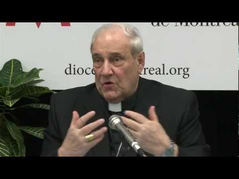 Conférence de presse - Départ du Cardinal Turcotte pour le conclave