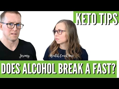 Will Drinking Alcohol Break A Fast? Keto Diet Q&A with Health Coach Tara (& Jeremy)