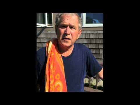 Le défi du seau d'eau : George W. Bush défie Bill Clinton