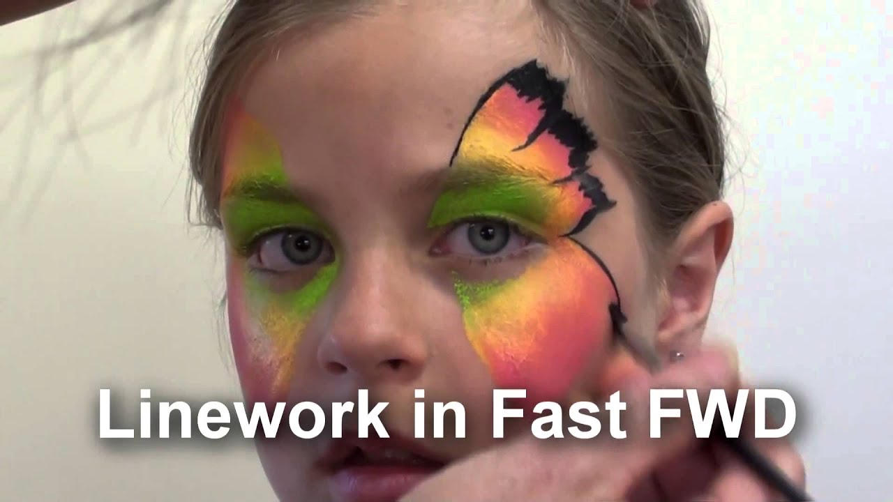 Easy face painting design step by step face painting for Easy painting ideas step by step