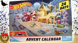 Hot Wheels Cars Christmas Advent Calendar Full 24 Days Unboxing 2018!   Birdew Reviews