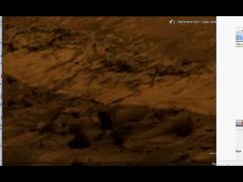 Mars rover-cam finds active  Alien aircraft , airport, service area & robots. part3