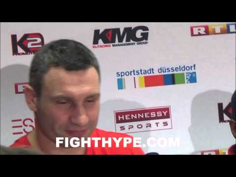 VITALI KLITSCHKO SHOCKED BY WLADIMIR'S PERFORMANCE IN LOSS TO FURY; SAYS REMATCH WILL HAPPEN