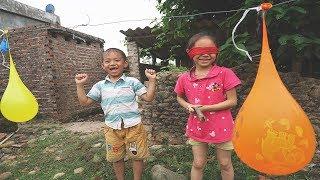Trò Chơi  Đập Bóng Nước Màu Sắc Thần kì ❤KN Channel thảo đen Đồ Chơi Trẻ Em toys for kids
