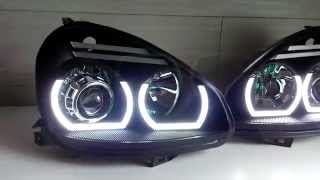 Новые фары для Lada Priora. Оптика Laser Lights. LED Headlights.