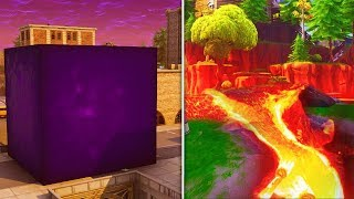 Fortnite CUBE MOVING LIVE - LOOT LAKE VOLCANO EVENT in Fortnite Battle Royale