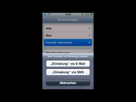 AppTest: Meine Lieblings App - WhatsApp [German/Deutsch]