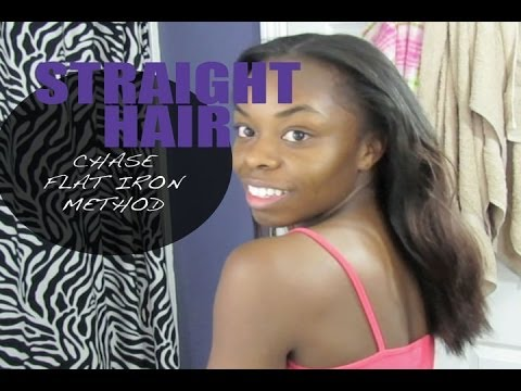 Straight Long Hair Using Chase Flat Iron Method video