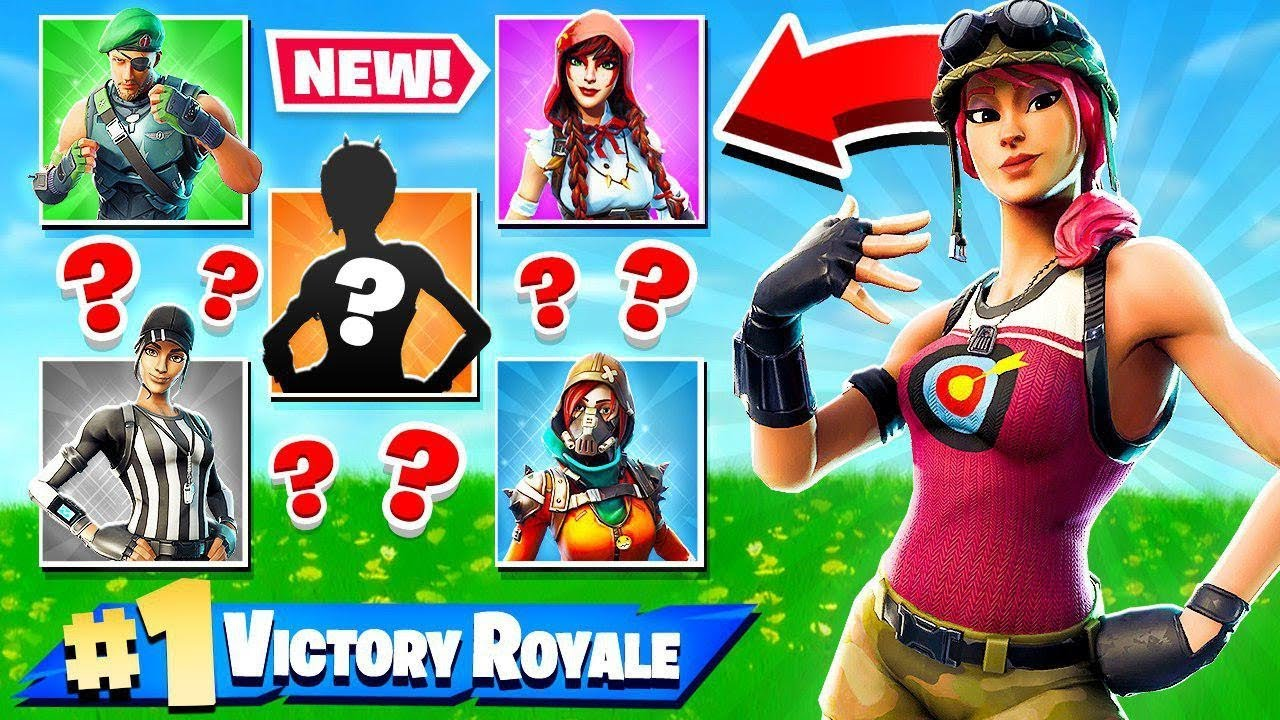 RANDOM *NEW* SKIN CHALLENGE in Fortnite Battle Royale