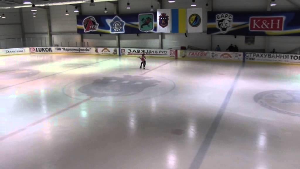 Калуш. Показові виступи фіналу Кубку України з фігурного катання серед юніорів